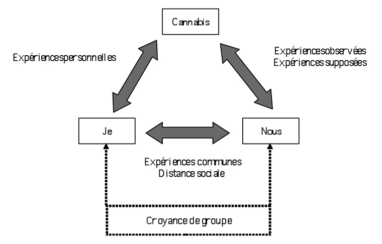 Figure 1 : Schématisation de la situation de communication à travers l'analyse des chansons